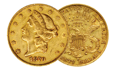 1879-O Liberty Head Double Eagle.   EF-45 (PCGS).