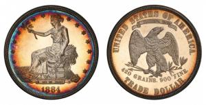 1884Trade dollar